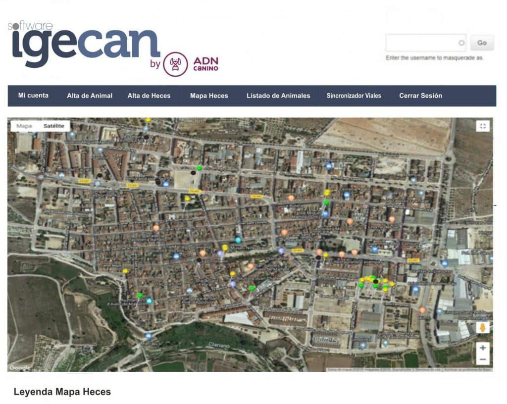 Imagen de foto del mapa de heces.